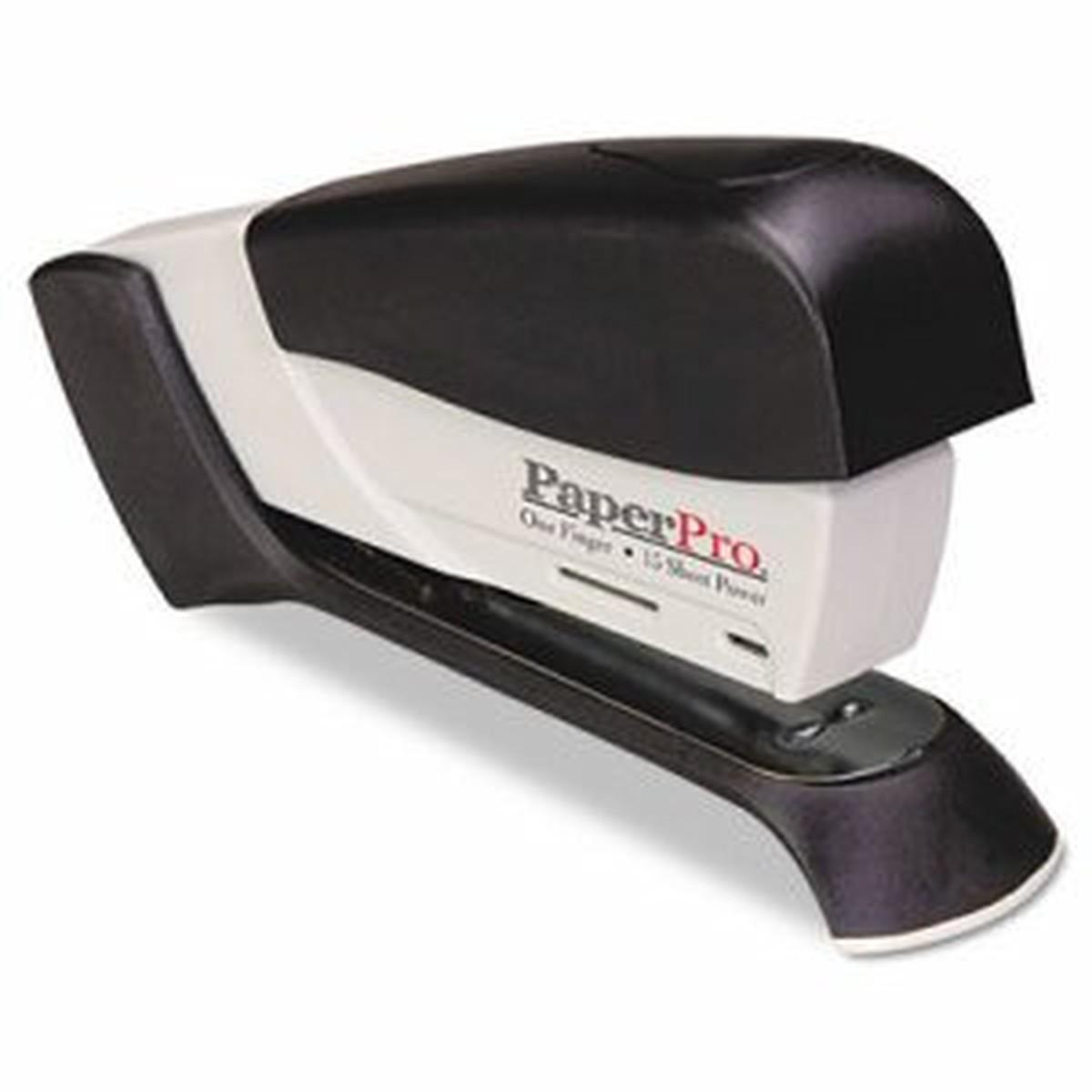 inJoy 20 Compact Stapler, 20-Sheet Capacity, Black