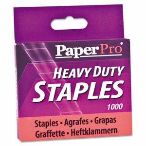 "Heavy-Duty Staples, 1/2"" Leg Length, 1000/Box"