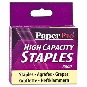 "High-Capacity Staples, 3/8"" Leg Length, 3000/Box"