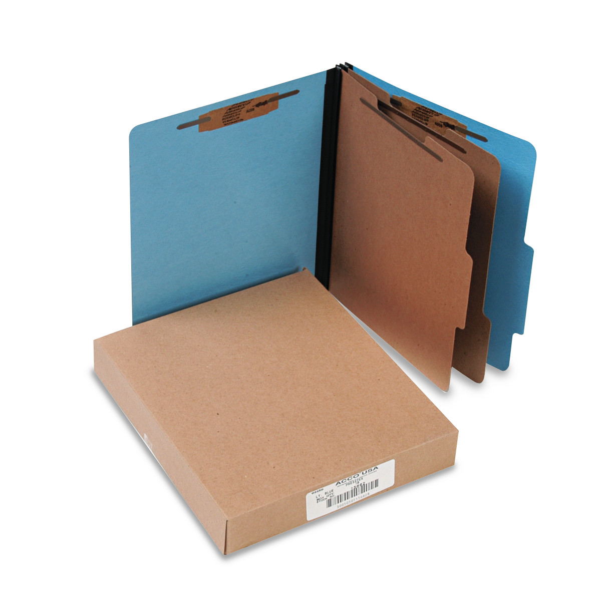 ColorLife PRESSTEX Classification Folders, Letter, 6-Section, Light Blue, 10/Box