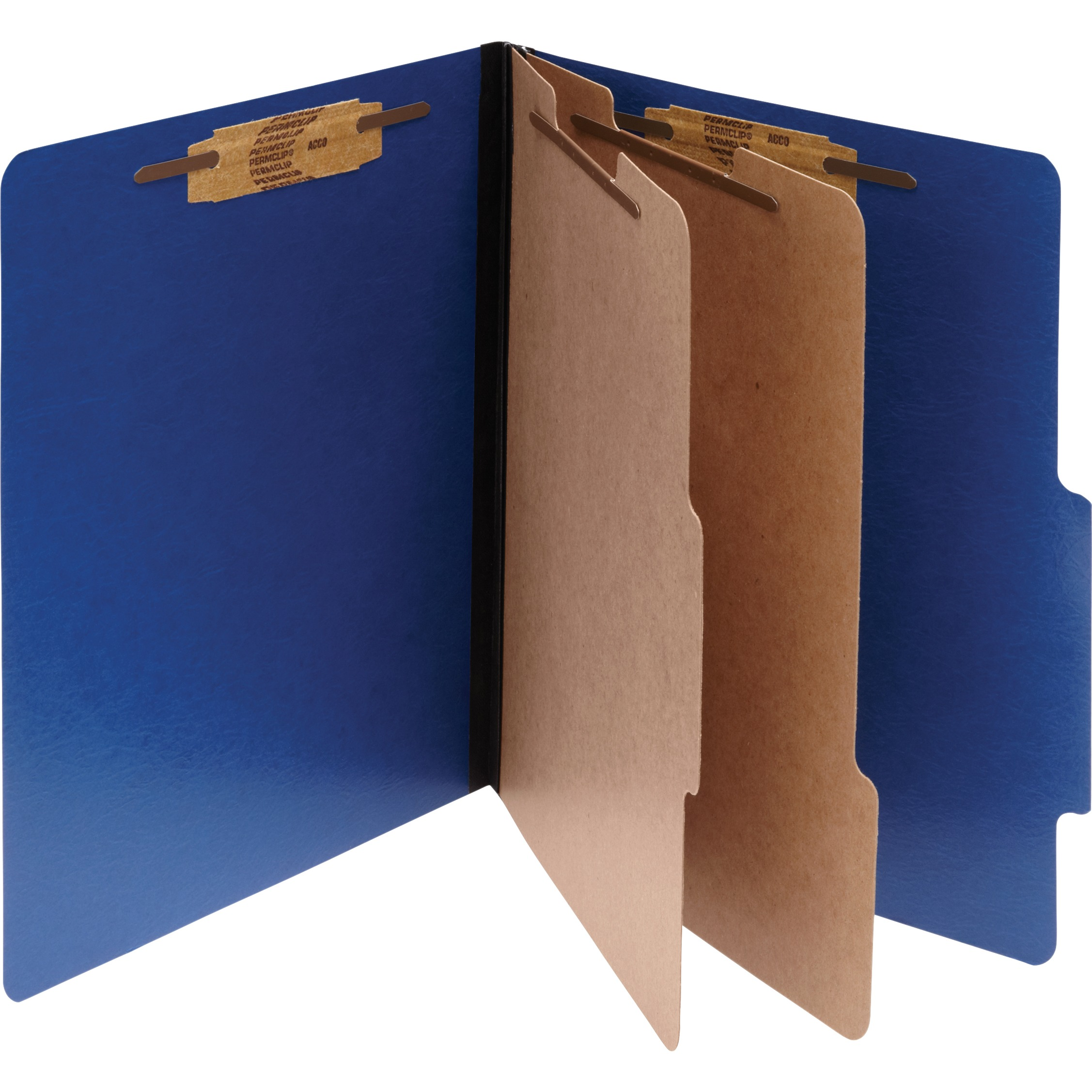 ColorLife PRESSTEX Classification Folders, Letter, 6-Section, Dark Blue, 10/Box