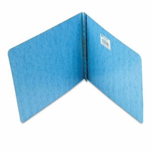 "Presstex Report Cover, Prong Clip, Letter, 2"" Capacity, Light Blue"
