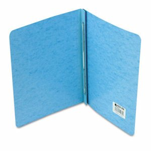 "Presstex Report Cover, Prong Clip, Letter, 3"" Capacity, Light Blue"