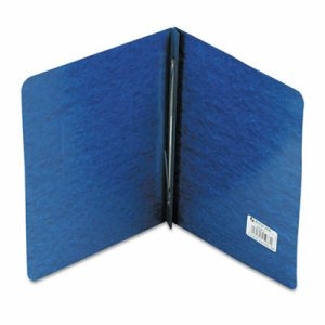 "Pressboard Report Cover, Prong Clip, Letter, 3"" Capacity, Dark Blue"