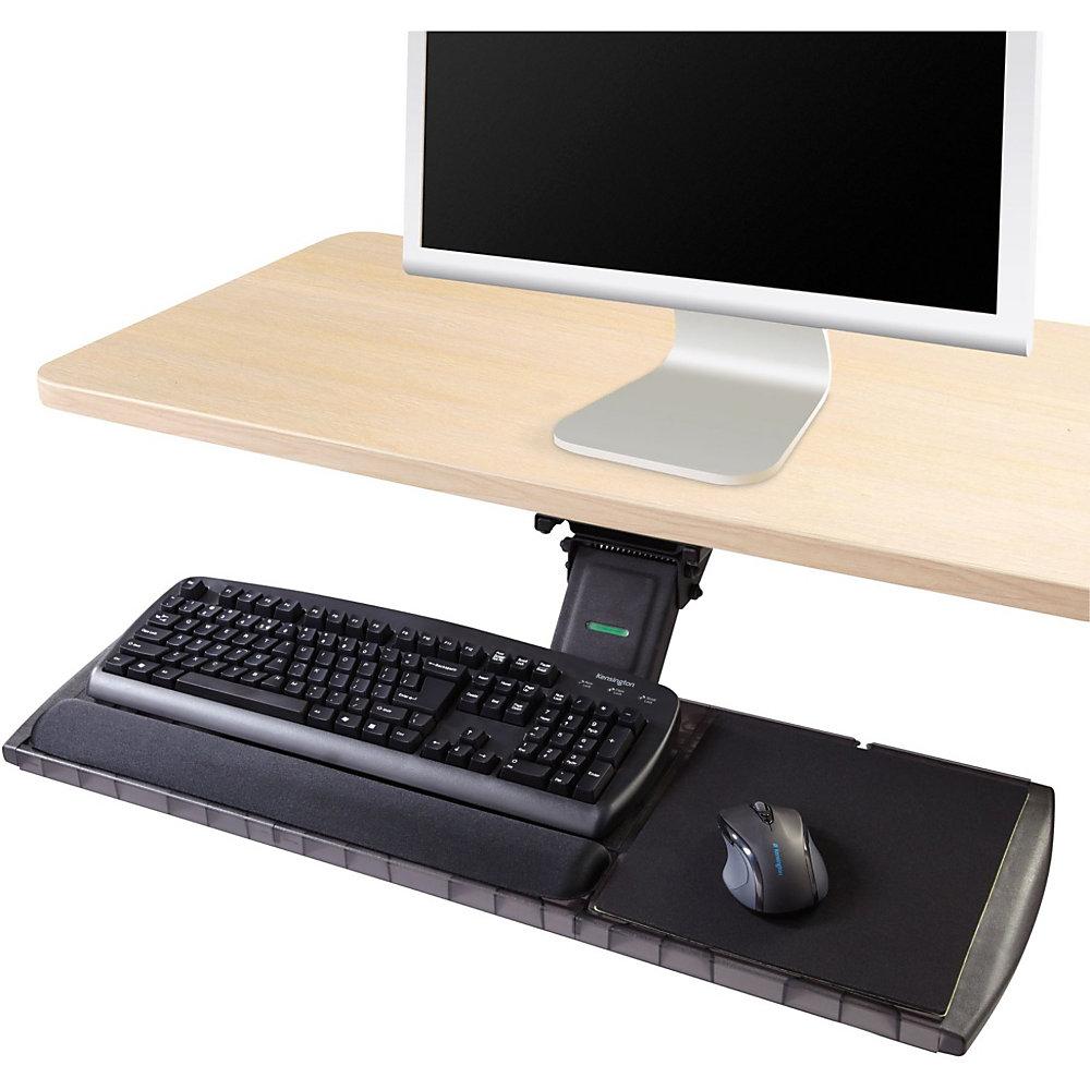 Adjustable Keyboard Platform with SmartFit System, 21-1/4w x 10d, Black