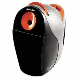 Optima Electric Pencil Sharpener, AC, Gray/Orange