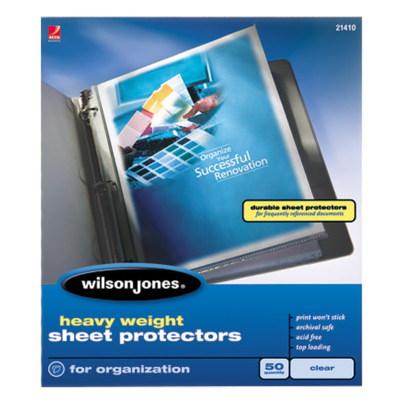 Heavyweight Top-Loading Sheet Protectors, Letter, 50/Box
