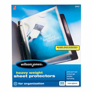 Heavyweight Top-Loading Sheet Protectors, Nonglare Finish, Letter, 50/Box