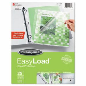 Side/Top Loading EasyLoad Sheet Protectors, Letter, 25/Pack