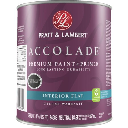 PAINT INTERIOR FLAT NEUT 1QT