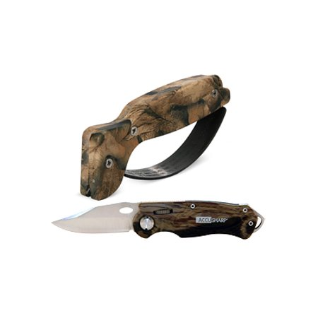 AccuSharp Sharpener and Sport Folding Knife Cmb - Camouflage