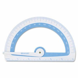 Soft Touch School Protractor With Microban Protection, Assorted Colors