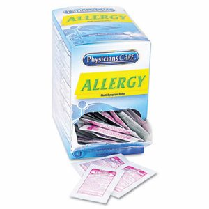 Allergy Antihistamine Medication, Two-Pack, 50 Packs/Box