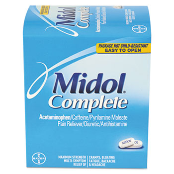 Complete Menstrual Caplets, Two-Pack, 30 Packs/Box