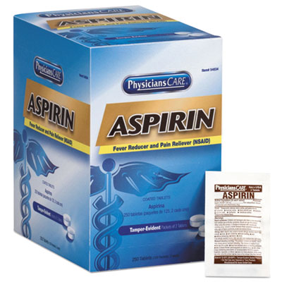 Aspirin Tablets, 250 Doses per box