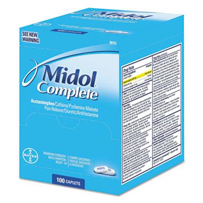 Complete Menstrual Caplets, Two-Pack, 50 Packs/Box