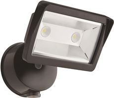 LITHONIA LIGHTING� LED DUSK TO DAWN 1-HEAD SECURITY LIGHT, 7-3/8 IN., BRONZE, USES (1) 18 WATT INTEGRATED LED (INCLUDED)