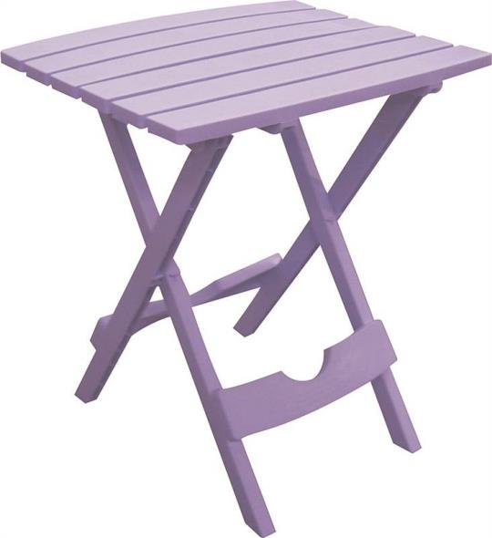 Quik-Fold 8500-12-3731 Resin Stackable Side Table, 15-1/4 in W X 17-3/8 in D X 19-3/4 in H, Violet