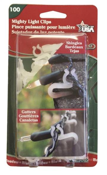 Adams 5150-99-1040 Mighty Light Clips, 100 Count