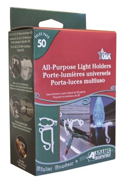 Adams 9040-99-1640 Light Holders, All Purpose, 50 Ct