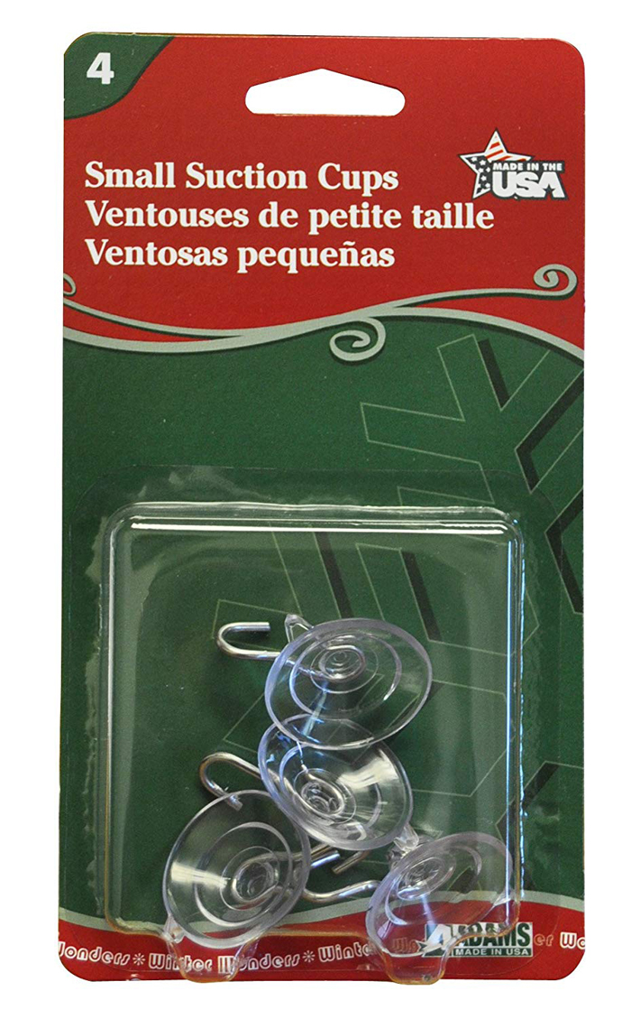 Adams 7500-77-1043 Suction Cups, Small, 4 Count