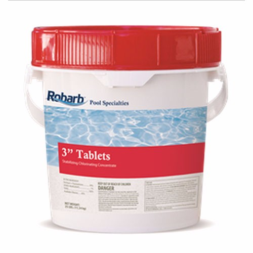 "Robarb Chlorine Tablets 3"", 50 Lb. Pail"