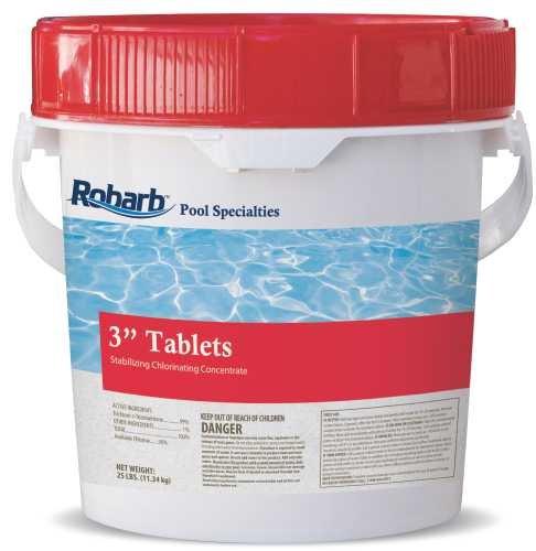 ROBARB� CHLORINE STICKS WITH TRICHLORO-S-TRIZENITRONE, 12 IN., 50-POUND PAIL