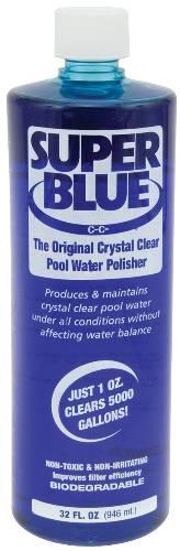 ROBARB� SUPER BLUE� POOL WATER CLARIFIER, 32 OZ.