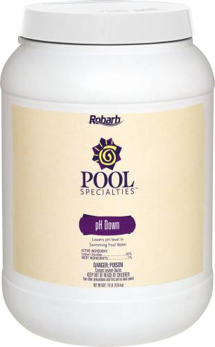 ROBARB� POOL SPECIALTIES PH DOWN, 10 LB. CONTAINER