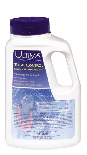 ULTIMA� TOTAL CONTROL COMBINATION POOL SHOCK & ALGAECIDE, 3 LB. CONTAINER