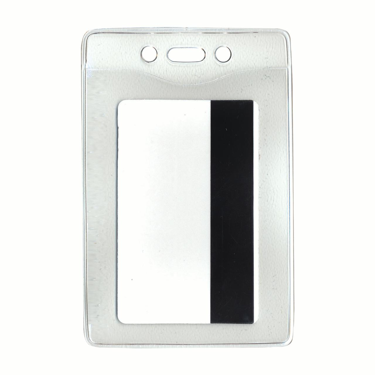 Security ID Badge Holder, Vertical, 3 3/8w x 4 1/4h, Clear, 50/Box
