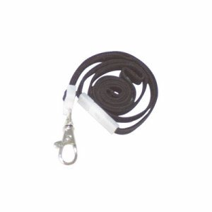 "Deluxe Safety Lanyards, Lobster Claw Hook Style, 36"" Long, Black, 24/Box"