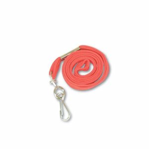 "Deluxe Lanyards, J-Hook Style, 36"" Long, Red, 24/Box"