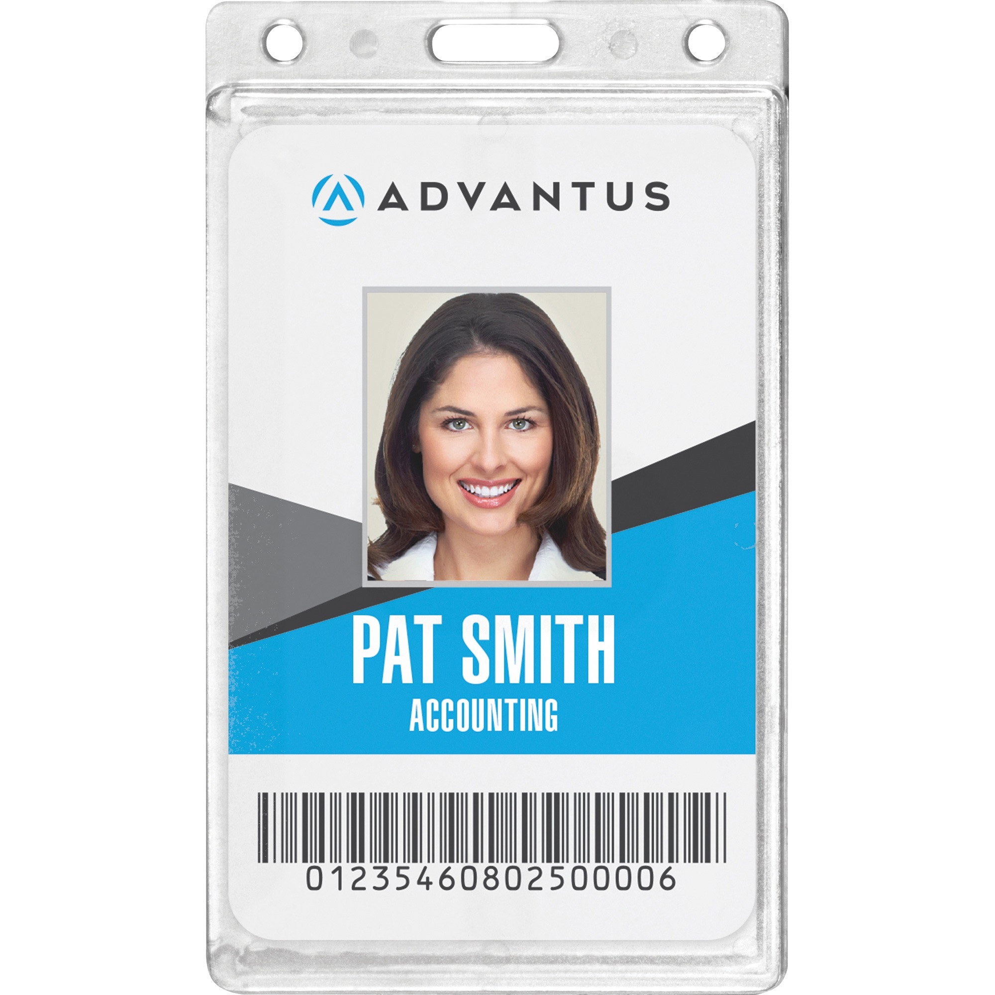 Frosted Rigid Badge Holder, 2 1/8 x 3 3/8, Clear, Vertical, 25/BX