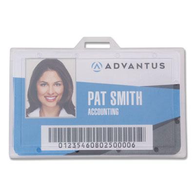 "ID Card Holders, Horizontal, 4 1/2"" x 4"", Clear, 25/PK"
