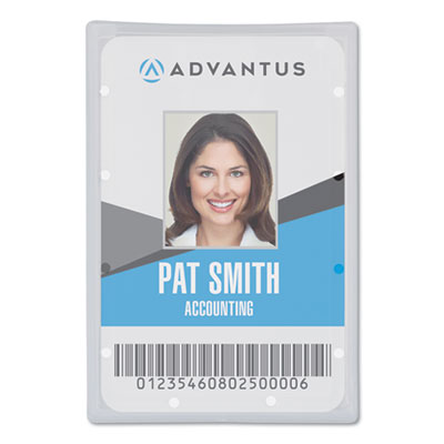 "Clear ID Card Holder, Vertical, 2 5/16"" x 3 11/16"", 25/PK"