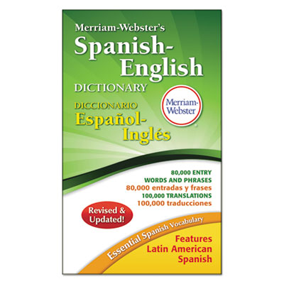 Merriam-Webster�s Spanish-English Dictionary, 864 Pages
