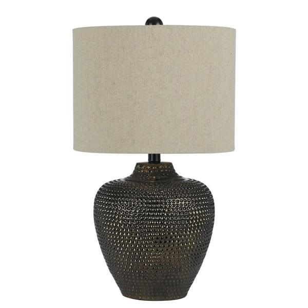 "22.5""HX13""D Danbury Ceramic Textured 1 Light Table Lamp, Standard Bulb"