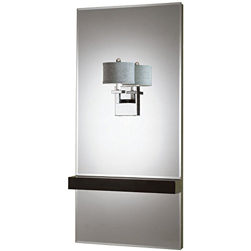 Chloe Mirror with Sconce, Chrome with Crystal