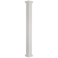 8X8' COLUMN WHT EMPIRE