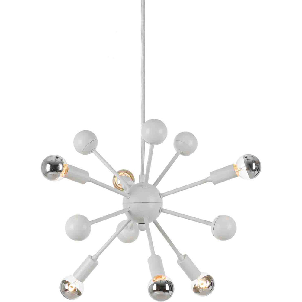 "Satellite Pendant, 6-40W Standard Bulbs, 13""HX15""D, Hardwire Only"