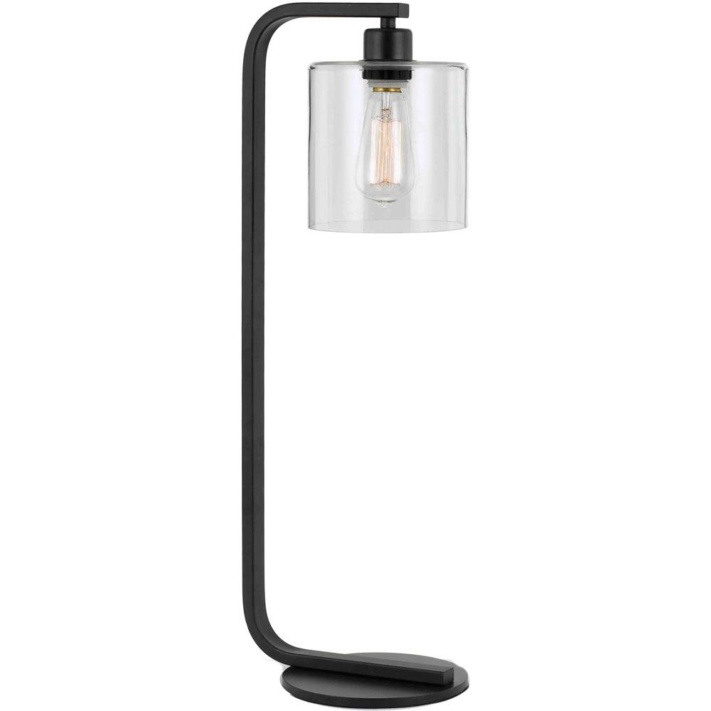 "Lowell Table Lamp, 9""Wx25.5""H, 1x60W Edison Bulb, Clear Glass Globe"