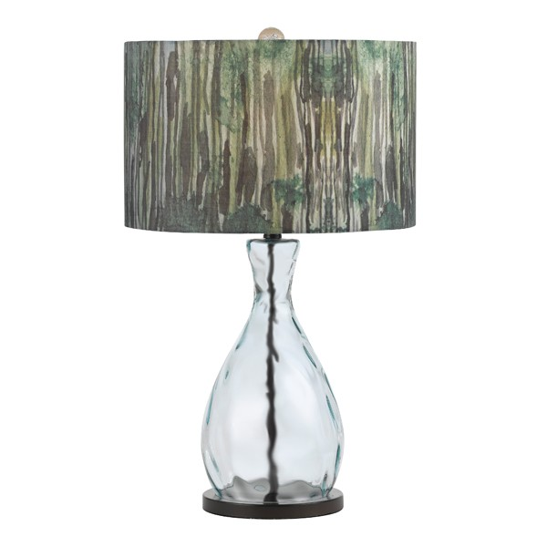 Trees 1 Light Blown Glass Table Lamp with 3-Way Edison Base