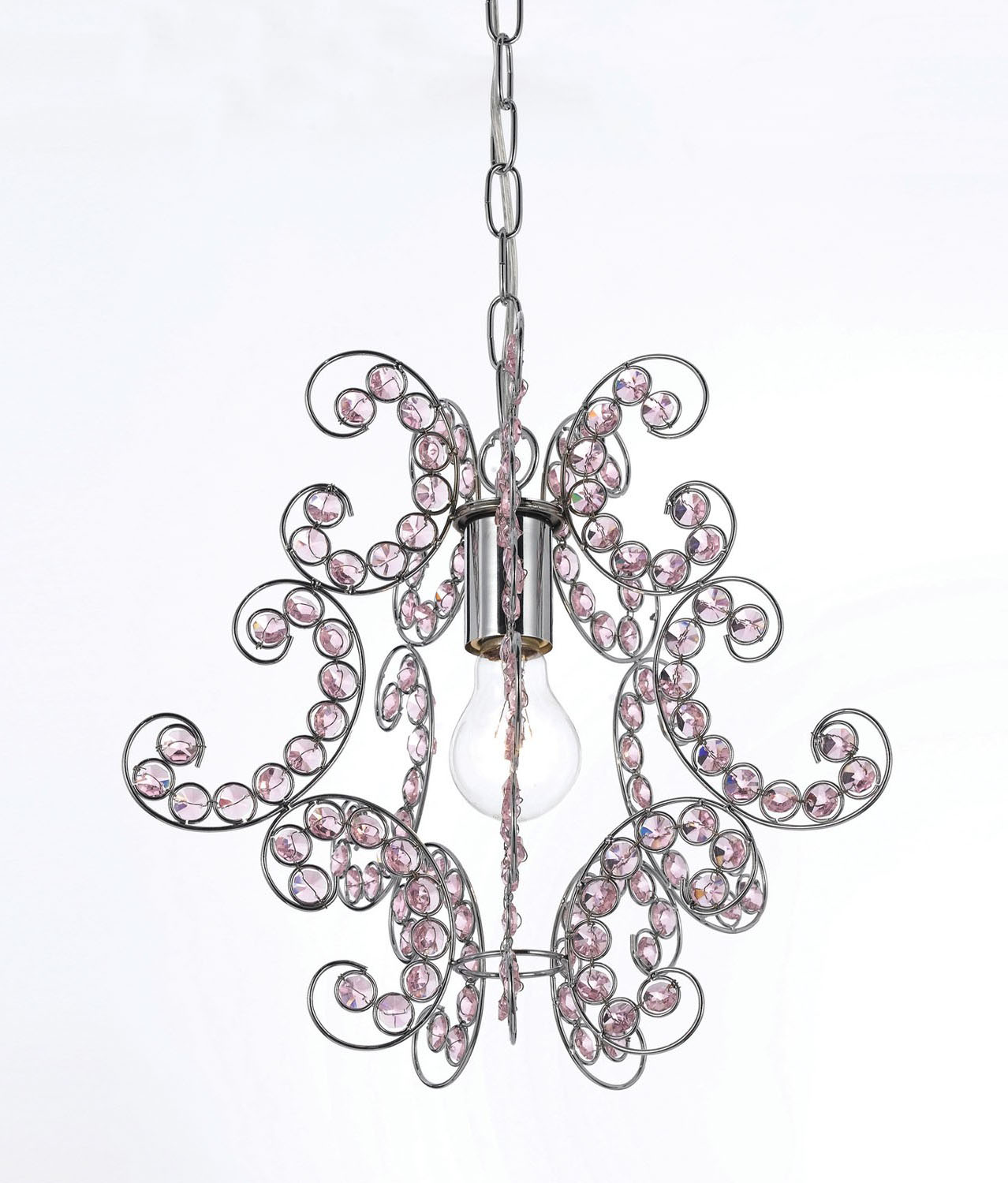 "AF Lighting Modern Elegant 1 Light Sweet Dream Mini Chandelier - 13""H x 12.5""D"