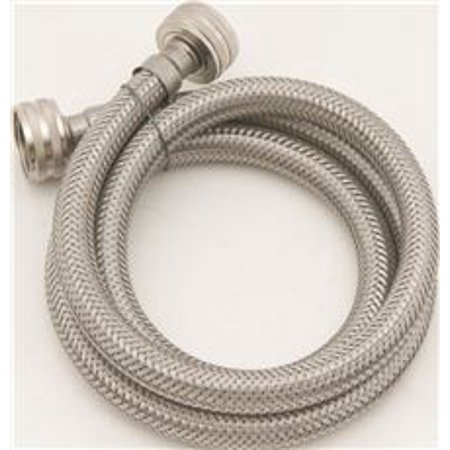"""WASHING MACHINE STAINLESS STEEL CONNECTOR 1/2"""" ID X 48"""""""
