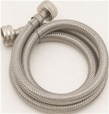 """WASHING MACHINE STAINLESS STEEL CONNECTOR 1/2"""" ID X 72"""""""