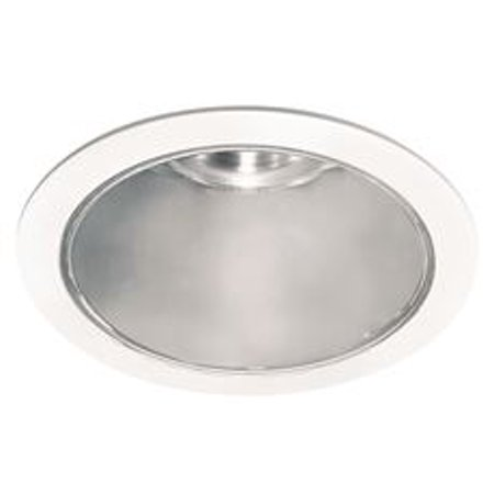 4-INCH RECESSED ANODIZED REFLECTOR CONE TRIM WITH LEXAN RING, CHROME,