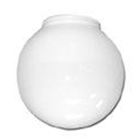 BALL GLOBE CEILING FIXTURE REPLACEMENT GLASS, WHITE, 6 IN., 3-1/4 IN. FITTER,