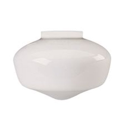 SCHOOLHOUSE BALL GLOBE CEILING FIXTURE REPLACEMENT GLASS, MILKY WHITE, 8-1/4 IN., 3-3/4 IN. FITTER,