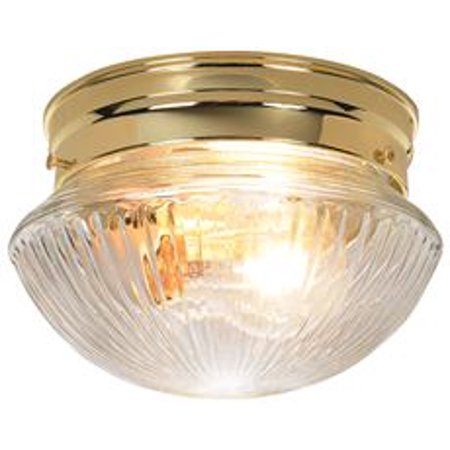 MUSHROOM-STYLE CEILING FIXTURE REPLACEMENT GLASS, CLEAR RIBBED, 7-1/2 IN., 5-3/4 IN. FITTER,